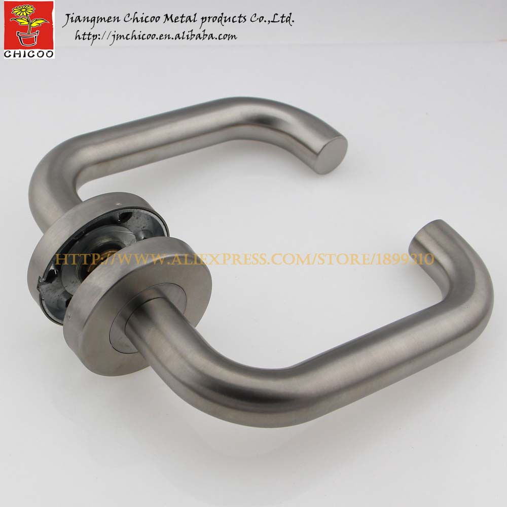 2sets stainless steel tube entry lever handles door lever handle interior door handle