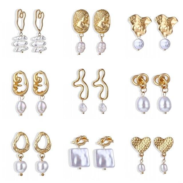 Big Simulated Pearl Earrings 3