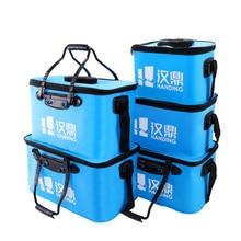 Handing Outdoor Portable Round Bucket Shrink Round Waterproof Fishing Bucket Fishing accessories Fishing tools Live Fish BOX