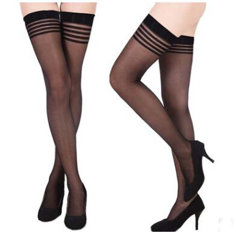 Sexy Stockings Female Thigh High Knee Socks Long Women Lace Garter Stockings Black Mesh  ...