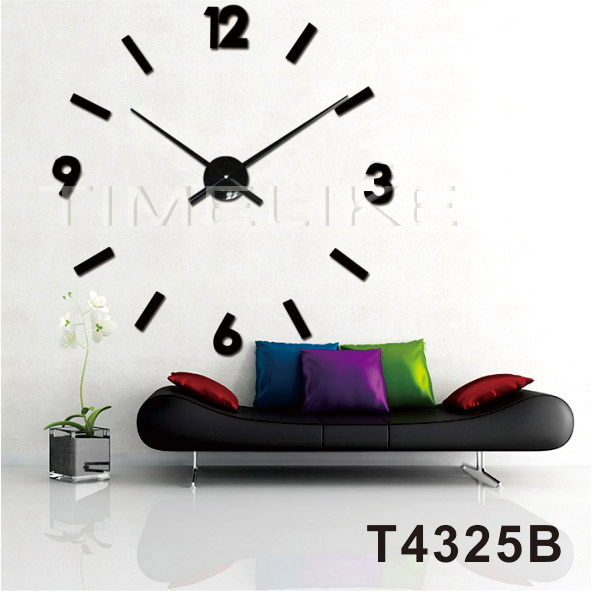 Modern 3d Wall Clock Big Size Diy Quartz Large Clock Hands Wall