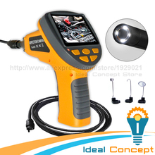 4M Cable Industrial Borescope Pipe Car Engine 10mm Inspection Camera Snake Scope 3.5 inch TFT LCD Endoscope
