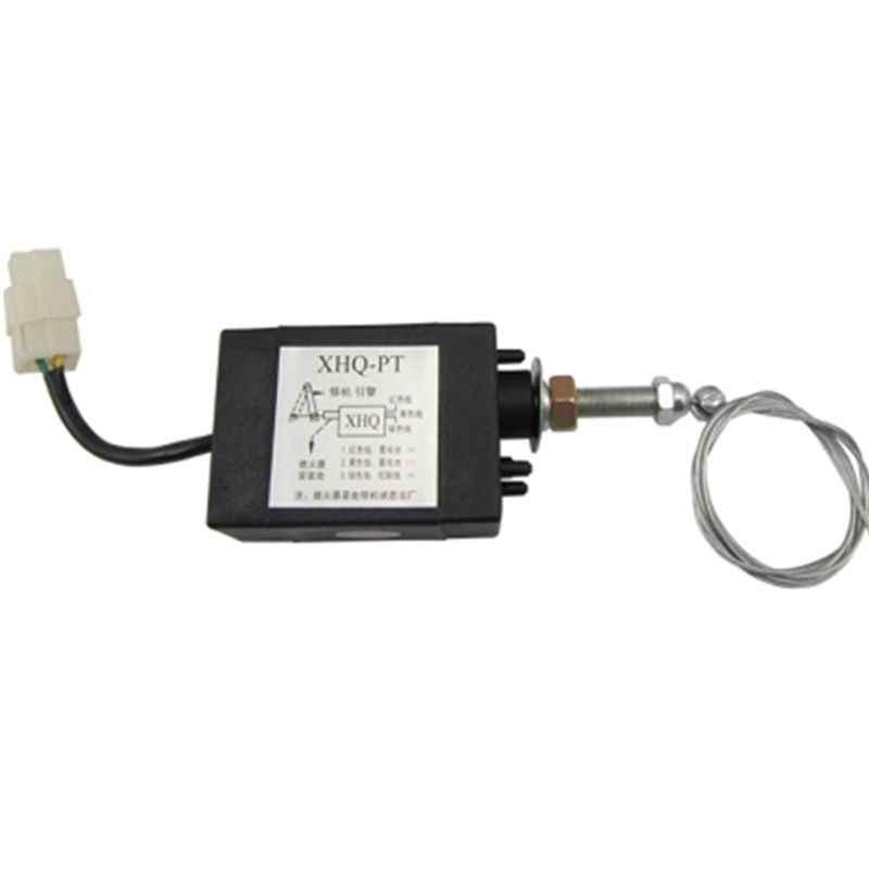 Normaal Open DC 12 v/24 v Diesel Vlam Uit Apparaat Motor Stop Magneetventiel XHQ-PT Power op pull Type Flameout Magnetische