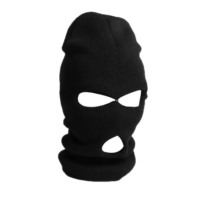 Online Shop 3 Hole Knitted Face Mask Balaclava Hat Ski Army Stocking ... bd2b00543a0d