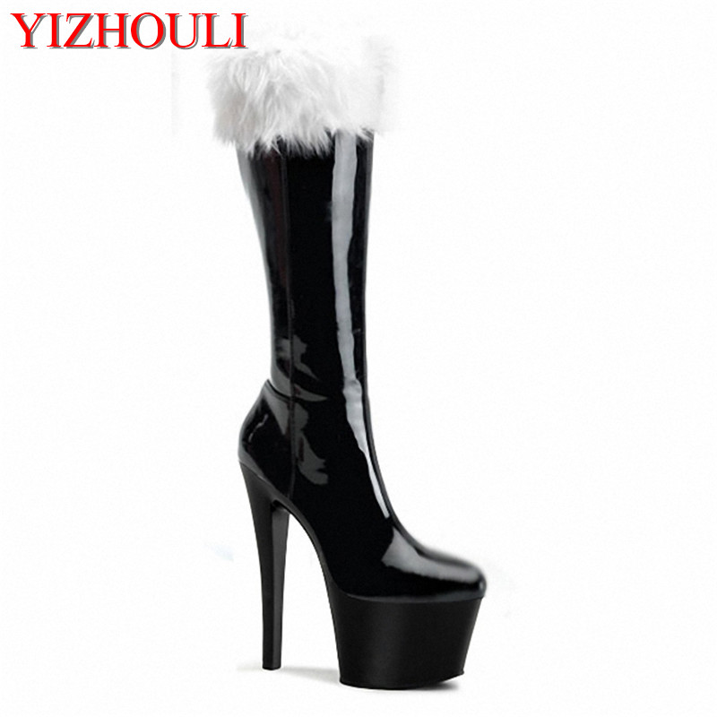 2018 Femmes Talons Et 17 Cuir D'hiver L'automne Cm Bas Bottes À Haute matte Noir En Mode Black De Daim Chaussures Sexy Pu rouge rvnwqEr0