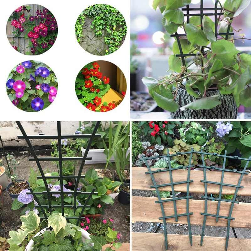 2 Pcs Durable Creative Vine Climbing Rack Flower Decorative Garden Tool Vegetables Plant Trellis Plant Support Frame 5.5*15*25cm