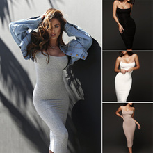 New Arrival Womens Sleeveless Sling Pencil Dress Evening Party Cocktail Club Short Mini