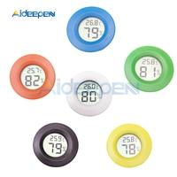 500pc Black Mini Round LCD Digital Thermometer Hygrometer Fridge Freezer Tester + 10pcs XH M214