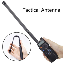 Abbree SMA-Female Connector Dual Band VHF UHF 144/430Mhz Foldable Tactical Antenna For Walkie Talkie Baofeng UV-5R UV-82 GT-3