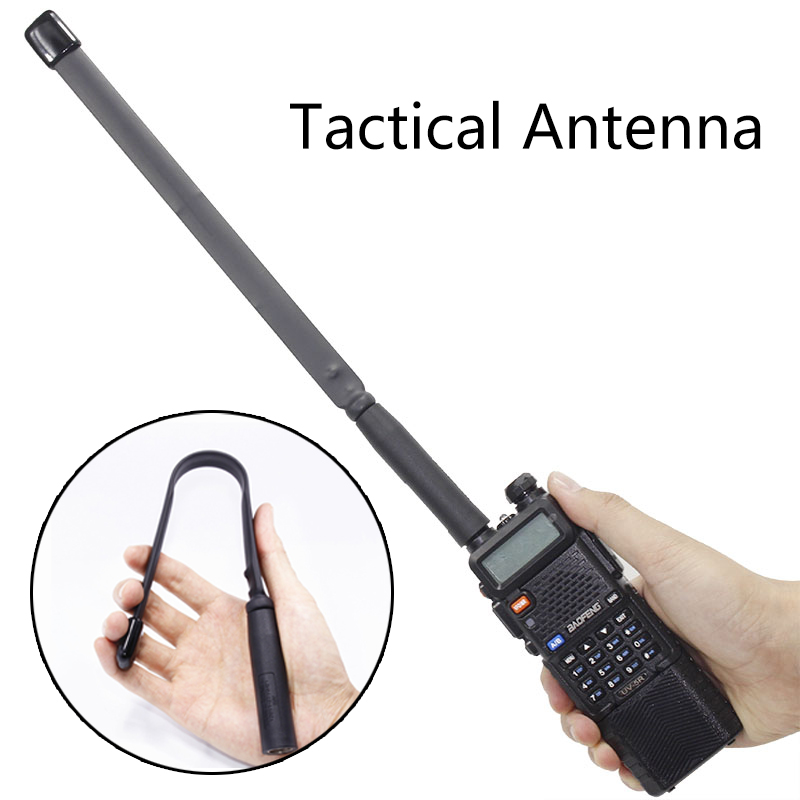 SMA-Femelle Dual Band VHF UHF 144/430 Mhz Pliable CS Tactique Antenne Pour Talkie Walkie Baofeng UV-5R UV-82 BF-888S Jambon Radio
