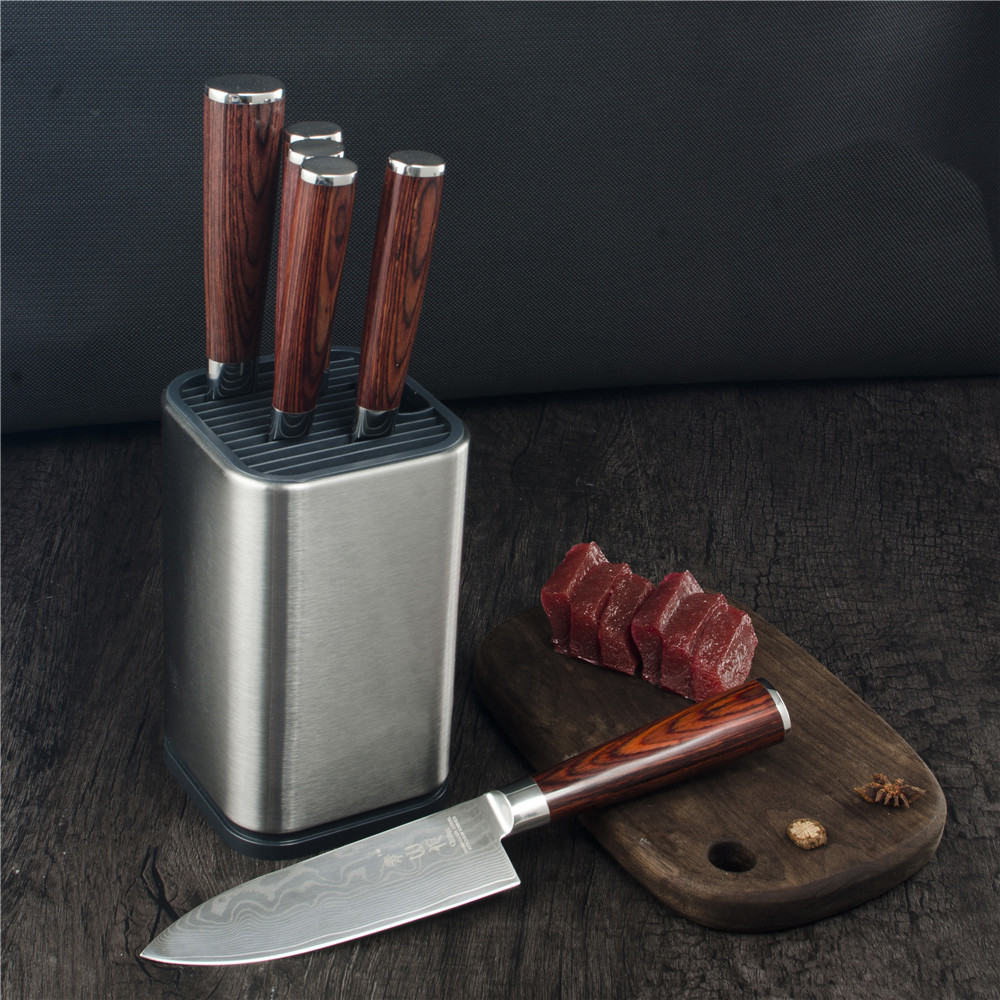 DAMASK 6 Inch Knife Stand Holder For Kitchen Knife Stainless Steel Cooking Knife Holder Stand Block High End Kitchen Accessories