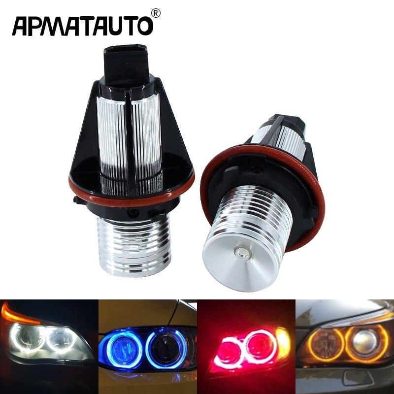 2 pçs/set 10W para Bridgelux LED Chips de LED Marcador Angel Eyes Cor Azul Branco Vermelho Amarelo para BMW E39 e53 E60 E61 E63 E64