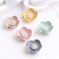 Großhandel 30 Stücke 22 MM 3D Emaille Legierung Blumen Button Patch Aufkleber Handwerk Passten Garment Haarschmuck Ornament Zubehör Dekor