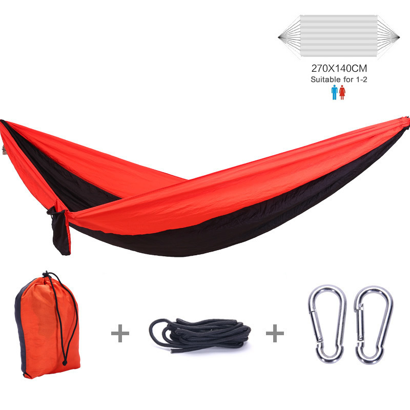 все цены на Portable Outdoor Garden Camping Hammock 1-2 Person Hanging Sleep Bed With Bag Parachute Hammock Swing Bed For Kids Adults онлайн