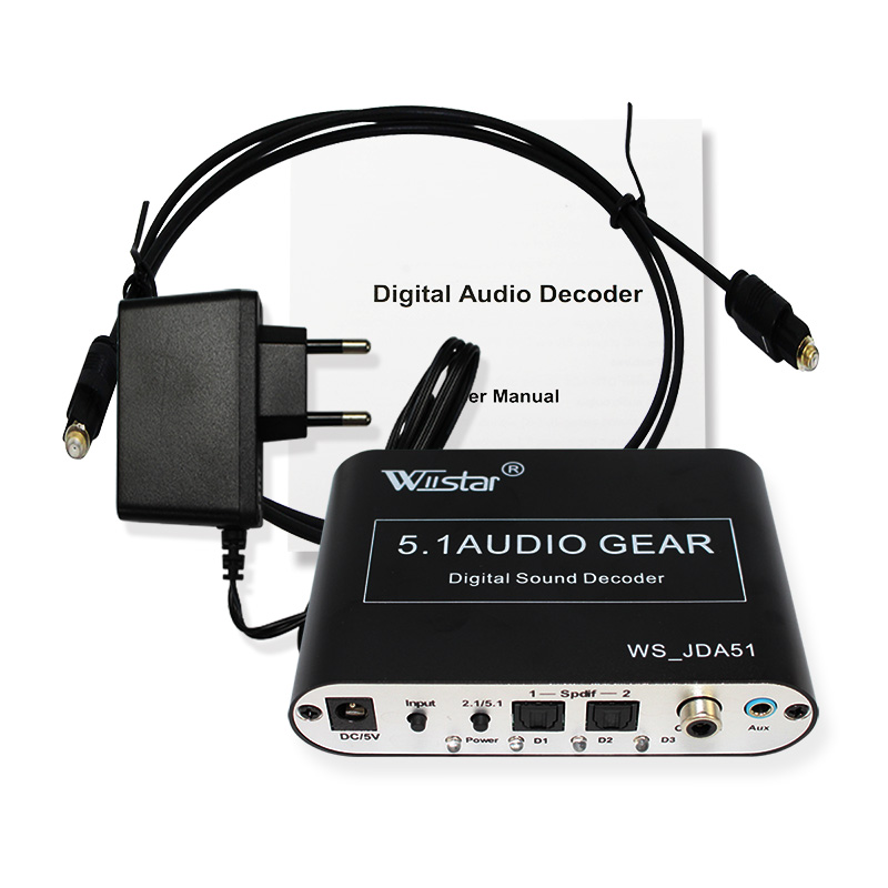 Wiistar 5.1 Audio Decoder SPDIF Coaxial to RCA DTS AC3 Digital to 5.1 Amplifier Analog decoder with USB for PS3,DVD player digital ac3 optical to stereo surround analog hd 5 1 audio decoder 2 spdif ports hd audio rush for hd players dvd xbox360