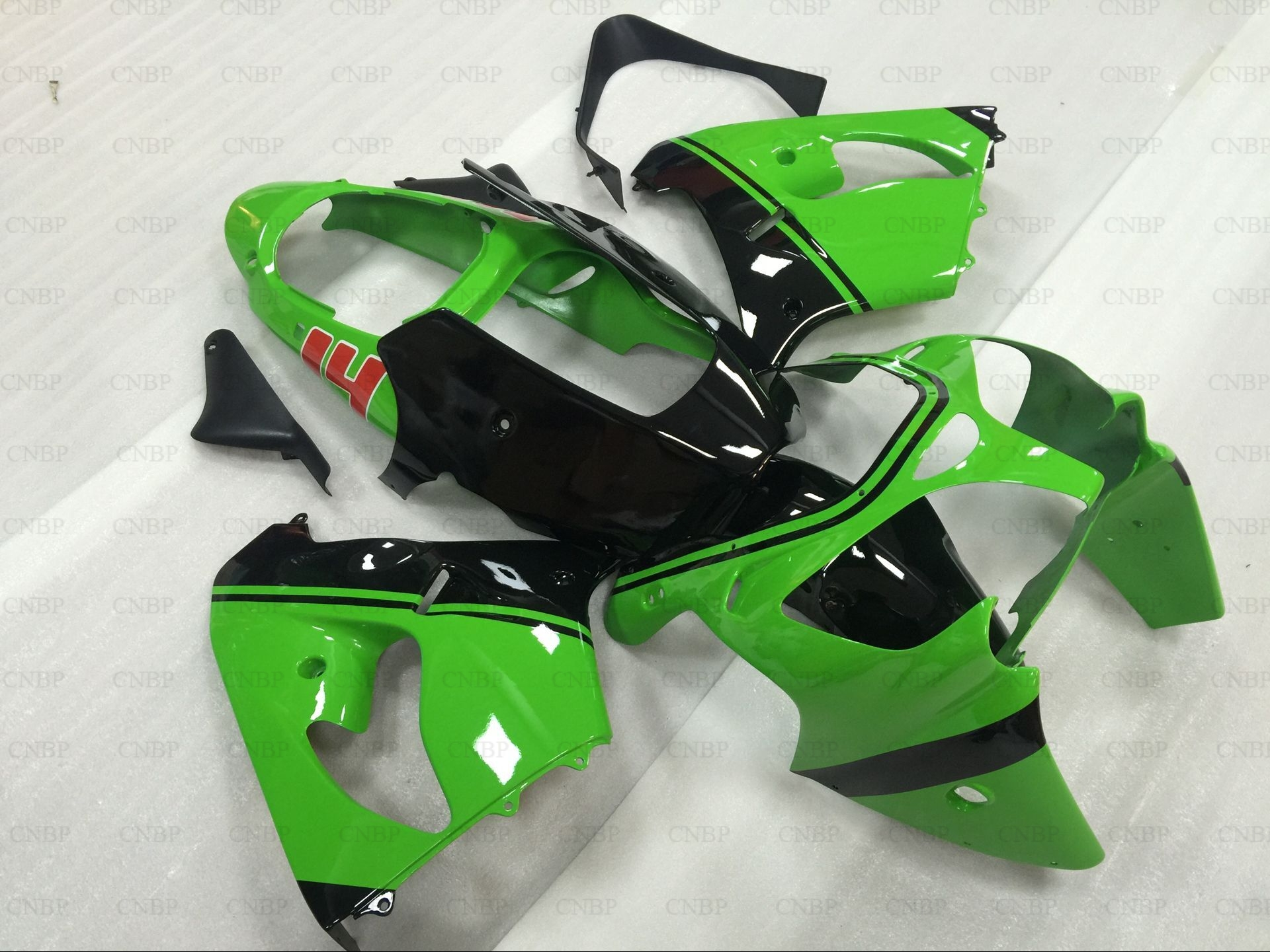 Fairing for Kawasaki Zx9r 01 Fairings Zx-9r 01 2000 - 2001 Green Black Motorcycle Fairing Zx9r 00 for 2002 2005 kawasaki ninja zx9r zx 9r motorcycle rear passenger seat cover cowl black 01 02 03 04 05