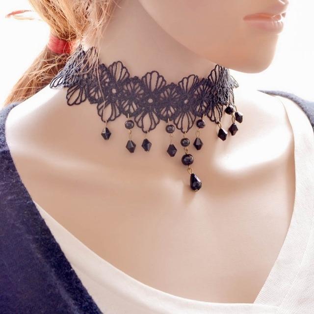 collier perle gland