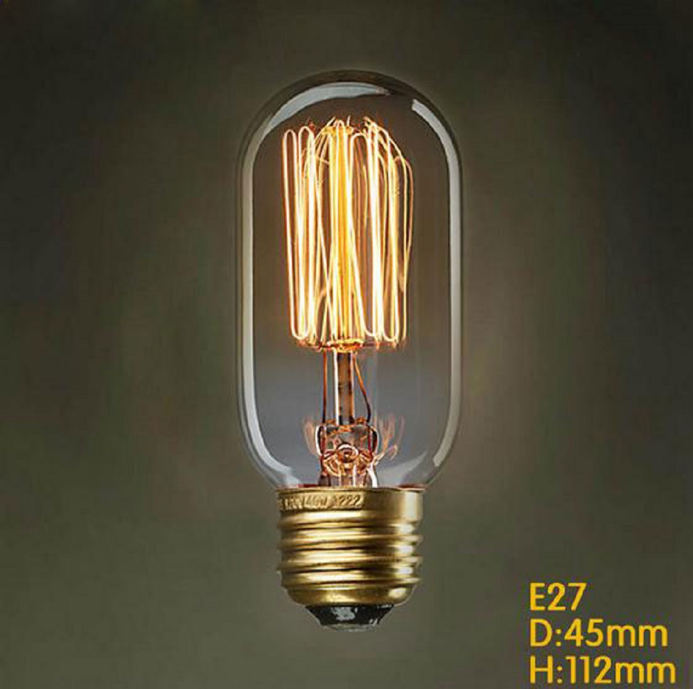 220v Hot Sale Vintage Edison Bulb Light Lamp T45 E27 Squirrel Vintage Incandescent Lamp Decor