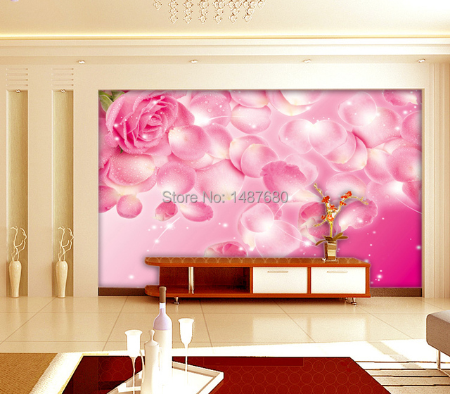 beibehang Any Size rose Custom 3d mural wall paper Large mural ...
