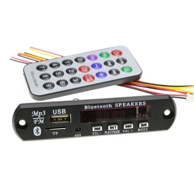 """אלחוטי Bluetooth/ללא Bluetooth 12 v מיקרו USB מיקרופון 3.5 מ""""מ AUX FLAC MP3 WMA מפענח לוח אודיו מודול USB TF רדיו לרכב"""