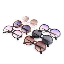 2019 Fashion Glamour Sunglasses Retro Oval Unisex Personality Mirror Coated Polarizer Gradient Color Multicolor Frame