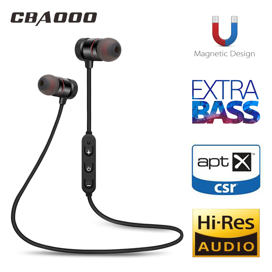 цена на CBAOOO C40 Bluetooth Earphone Wireless bluetooth headset Sport weatproof Magnetic Stereo with mic for xiaomi iphone Android