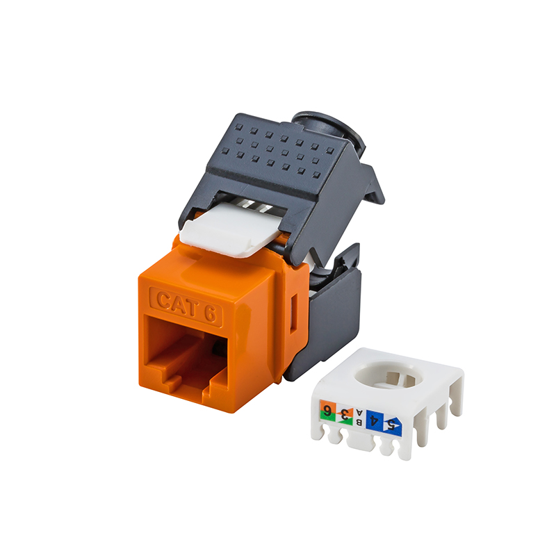 Gigabit RJ45 CAT6 Keystone Jacks Modules Tool-free Connection (No Need Punch Tool) Fit Faceplate, Blank Patch Panel