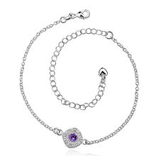Anklet silver plated anklet silver fashion jewelry anklet 20+10CM chain for modern women jewelry free shipping dfgr LA037-D