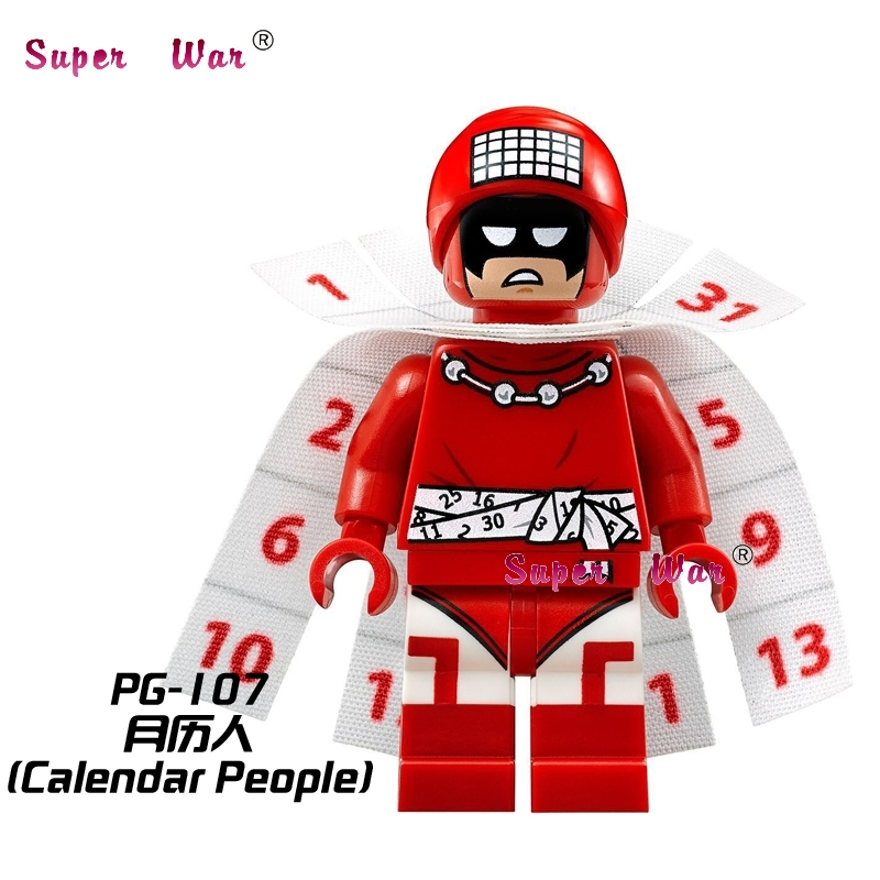 1PCS star wars superhero marvel Bat Movie Calendar man building blocks action sets model bricks toys for children