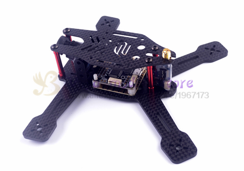 New DIY FPV mini racing drone Alien 130 160 quadcopter pure carbon fiber frame unassembled diy fpv mini drone qav210 quadcopter frame kit pure carbon frame cobra 2204 2300kv motor cobra 12a esc cc3d naze32 10dof