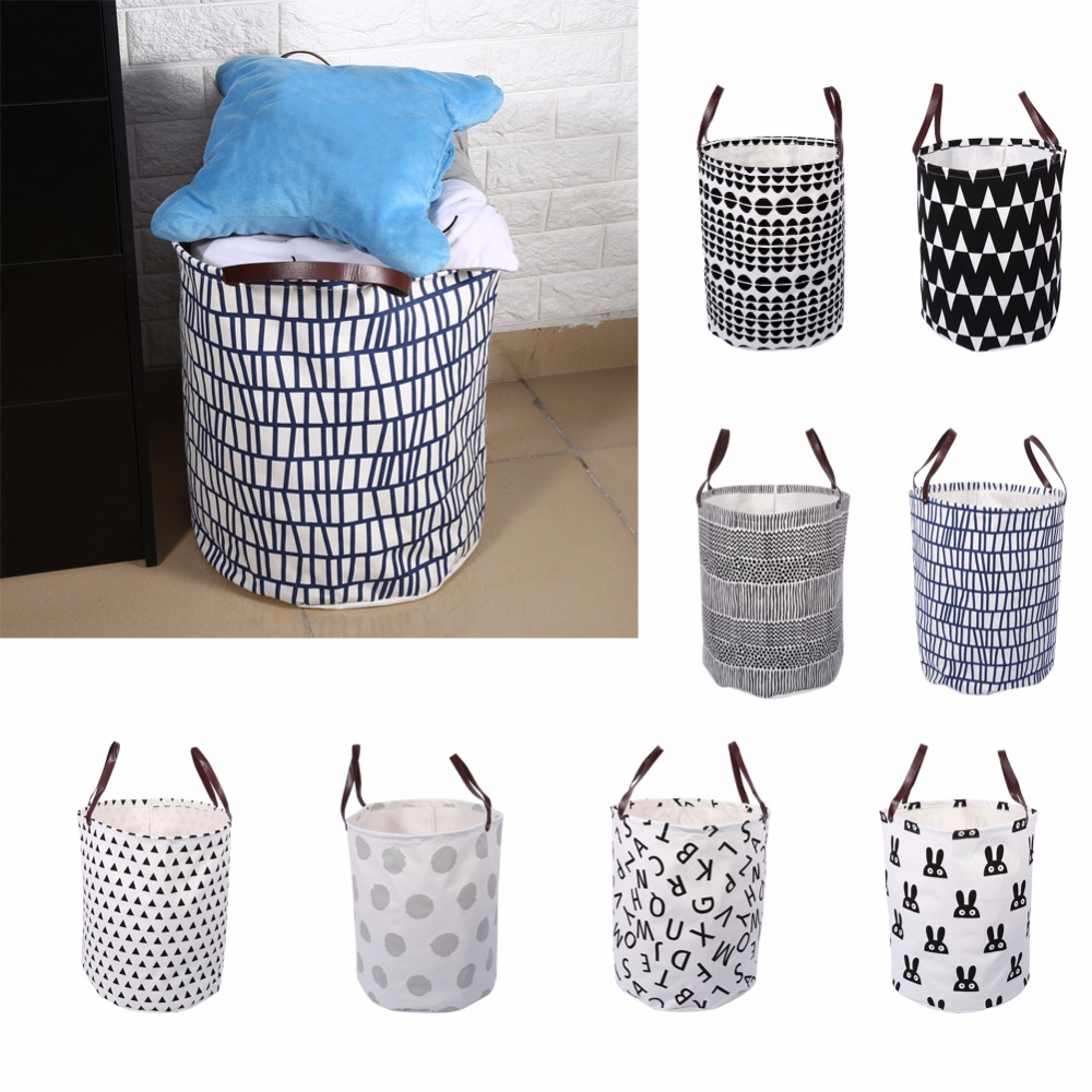 Semicircle Rabbit Laundry Basket Wave Letter Pattern Handbag Baby