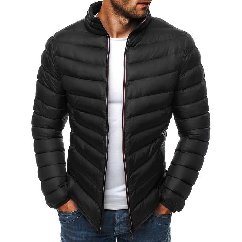 ZOGAA 2019 Winter Mens   Parkas   Guys Boys Warm Casual Long Sleeve Puffer   Parkas   Coat Male Solid Slim Zipper Simple Coat   Parkas
