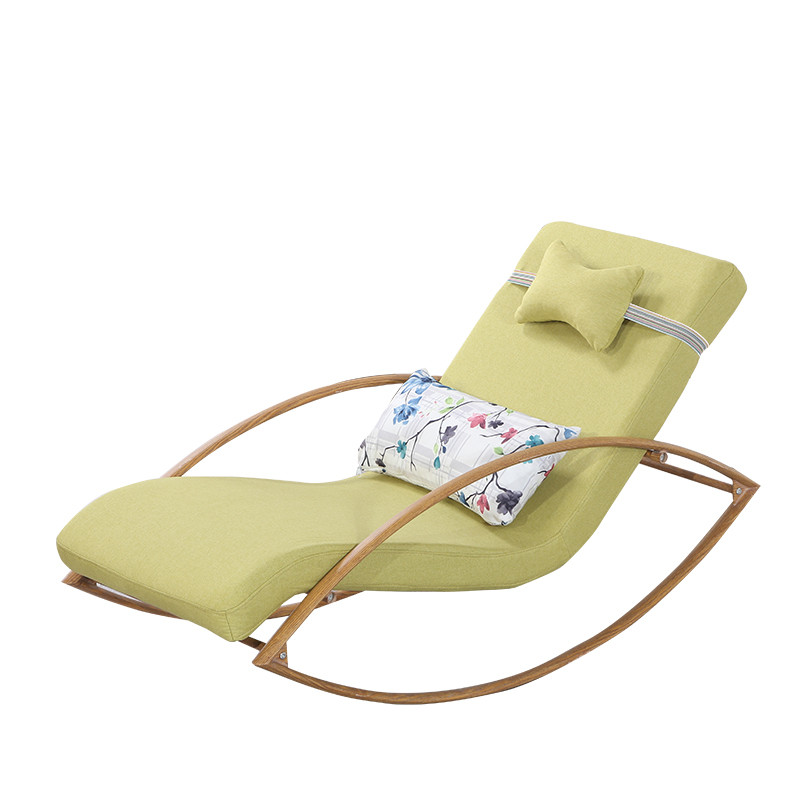 Comfortable Relax Metal Rocking Chair Chaise Lounger With Upholsterd