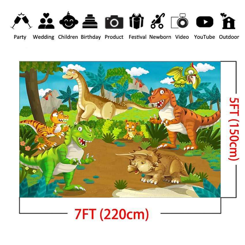 MEHOFOTO orman dinozor parti zemin fotoğrafçılık için orman hayvanları doğum günü fotoğraf arka plan resimleri dekor zemin
