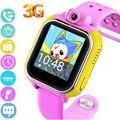 Smart watch smartwatch para crianças dos miúdos com câmera 3g gps tracker crianças Bebê Câmera do Relógio Toque Relógio de Pulso Q8 U8 PK Q50 Q70