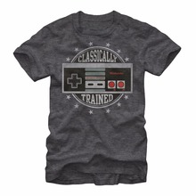 Nintendo Classically Trained NES Video Game Controller Men's T shirt Summer Cotton Tee Shirt Cotton Hight Quality T-Shirt S-3XL