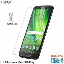 2PCS For Glass Motorola Moto G6 Play Screen Protector Tempered Glass For Motorola Moto G6 Play Glass Phone Film WolfRule сотовый телефон motorola moto z play xt1635 black silver