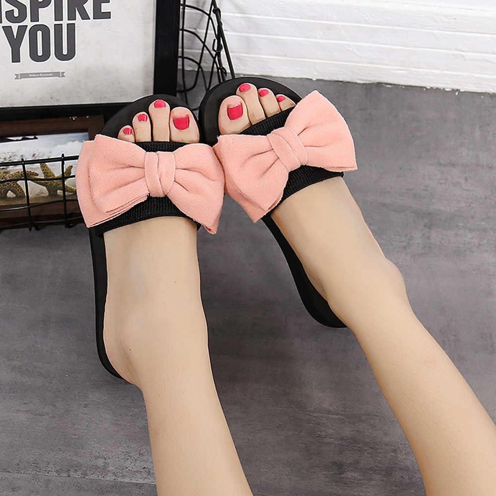 SAGACE Sommer Schuhe Frau Bogen Sommer Sandalen Slipper Indoor Outdoor Sommer Flip-Flops Strand Schuhe