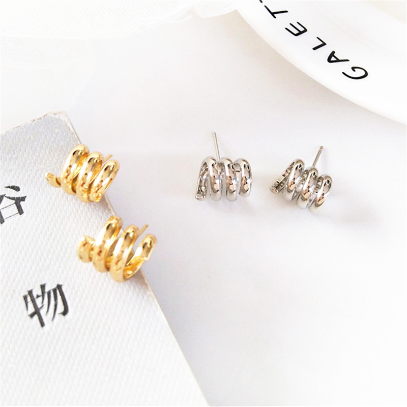 Refined metal geometric earrings temperament contracted lady fashion retro exaggerated wholesale