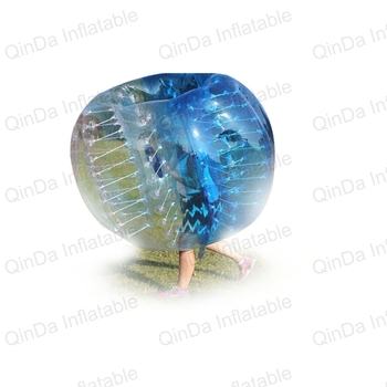2017 Newest 1.2m Diameter Inflatable Soccer Ball Inflatable Bubble Human Haster Ball Transparent For Fun Game