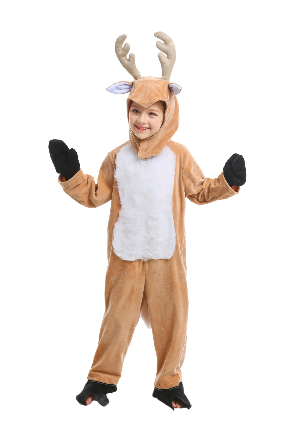 Hallowmas Christmas Adult Kids Christmas reindeer animal Cosplay clothes Stage Amphibian costumes Plum blossom Deer coveralls