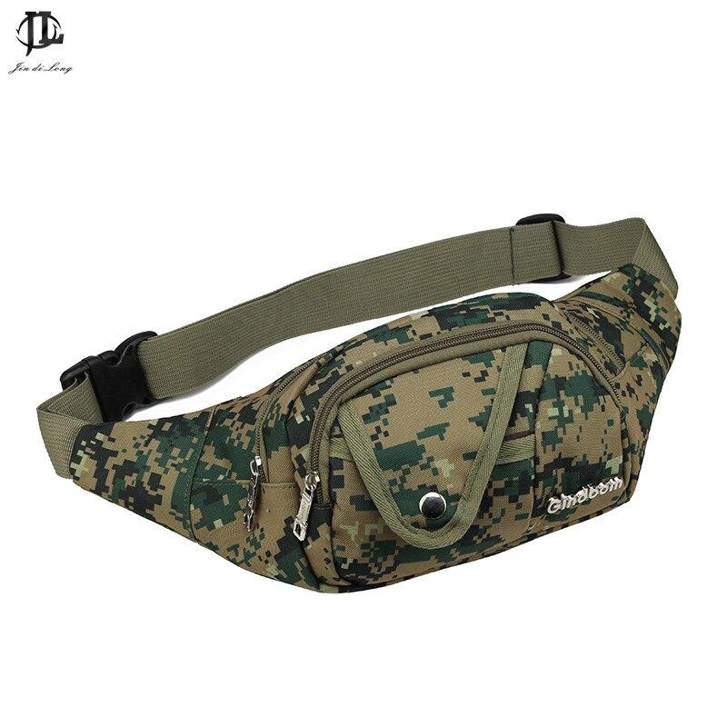 Oxford Fabric Camouflage Waist Pack Bag Men Fashion Single Shoulder Strap multi color WaterProof Chest Men