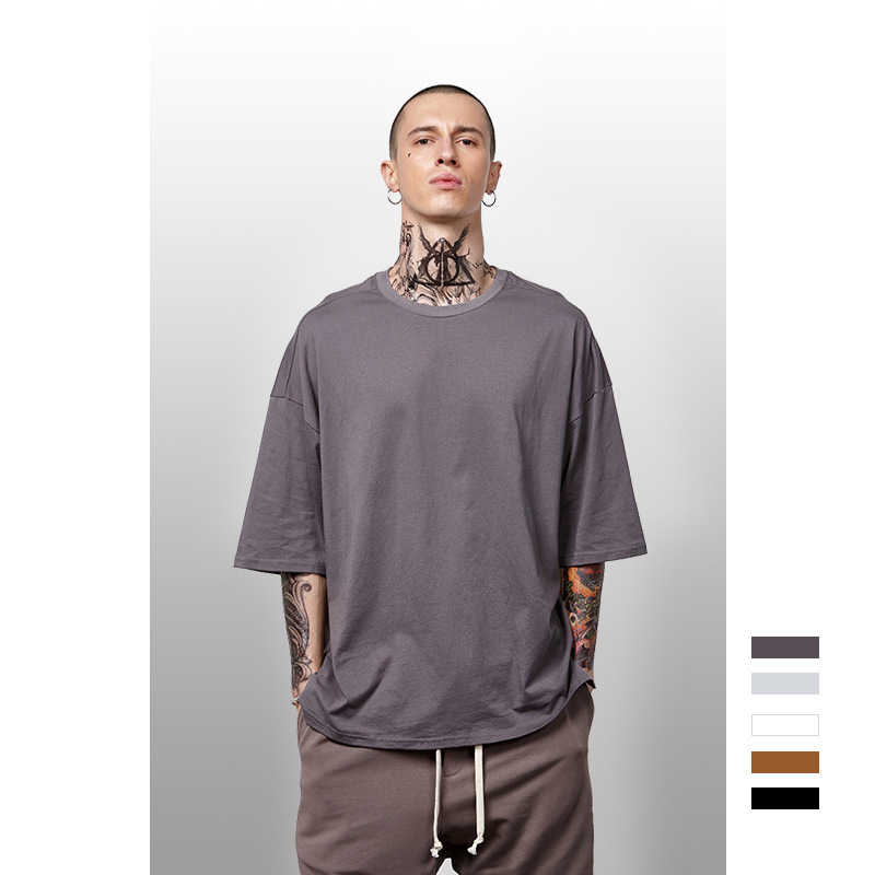 Solid 100 Cotton Unisex Oversize T Shirt Elbow Length Crew Neck Hip Hop Fashion Short Sleeve Shirt 10 Colors Male T Shirt T Shirts Aliexpress
