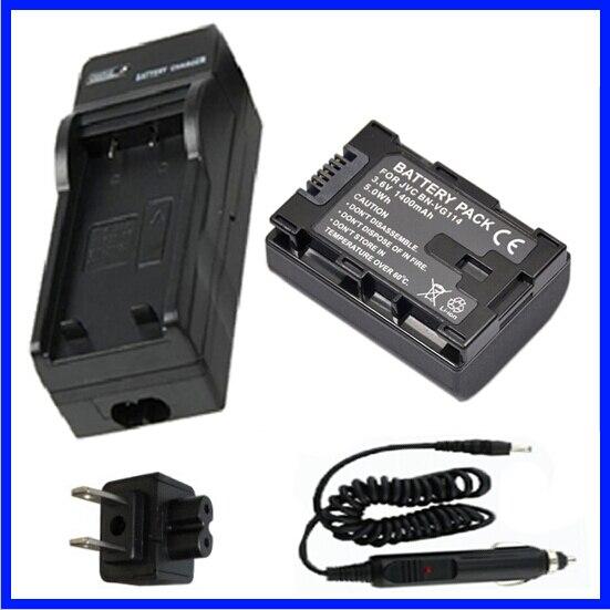 Battery + <font><b>Charger</b></font> for <font><b>JVC</b></font> Everio GZ-HM300BU,GZ-HM30BU, GZ-HM35BU, GZ-HM40BU, GZ-HM50AU,GZ-HM50BU, GZ-HM50RU, GZ-HM65BU <font><b>Camcorder</b></font>