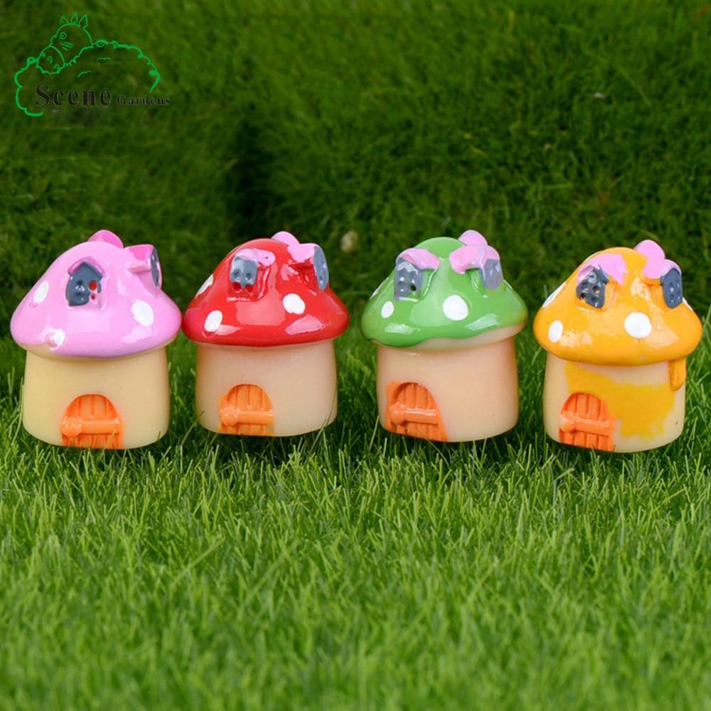 2Pcs Mushroom Miniature Garden Ornament DIY Craft Pot Fairy ...