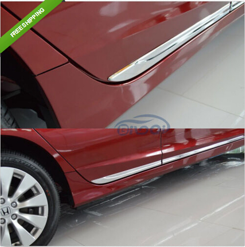 Chrome Body Side Door Moulding Trim Overlay cover For Honda Accord MK9 2013 2014 body shield body side cover black points