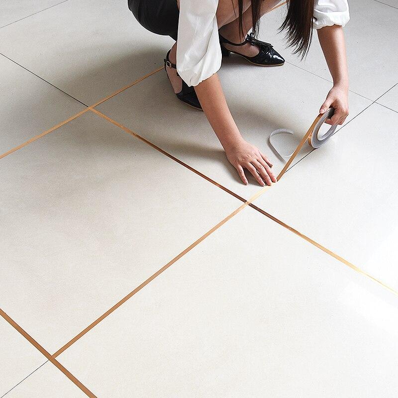 50Meters waterproof wall gap sealing tape Copper Foil Tape Strip Adhesive Floor tile beauty seam sticker Home decoration платье seam seam mp002xw18uic