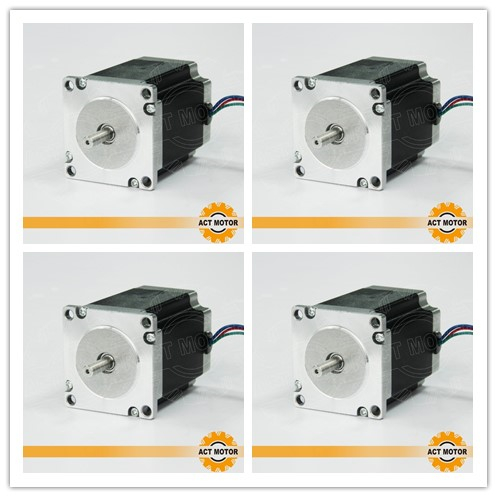 Hot Sale!4PCS Nema23 Stepper Motor 23HS8430 4-Lead 270oz-in 76mm 3.0A Bipolar CNC Router Foam Grind Laser Engraving DE US CAFreeHot Sale!4PCS Nema23 Stepper Motor 23HS8430 4-Lead 270oz-in 76mm 3.0A Bipolar CNC Router Foam Grind Laser Engraving DE US CAFree