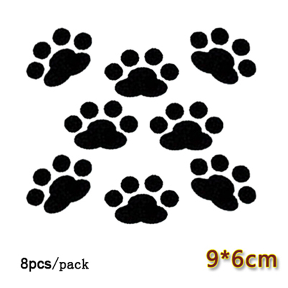 Image 4 - 8 pcs/lot Car Window Bumper Body Decal Sticker Bear Dog Paw Foot Prints Black Red White OCT 21-in Car Stickers from Automobiles & Motorcycles