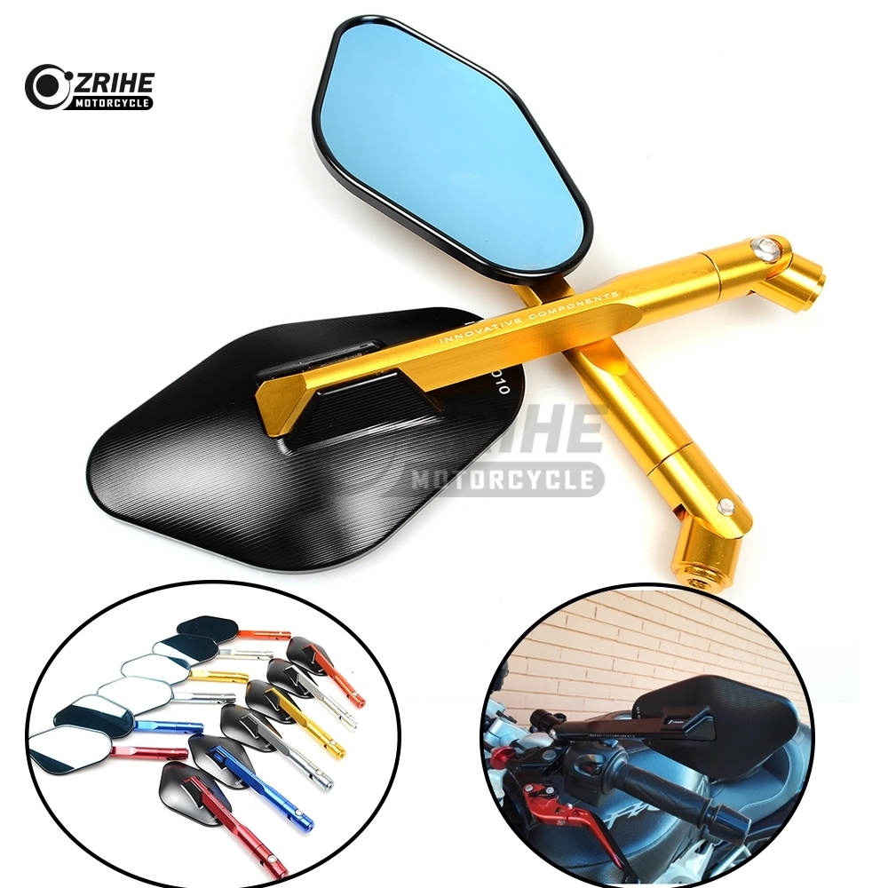 Universal CNC Motorcycle Adjustable Side mirror Rearview Mirrors For Ducati 1000SS 916 916SPS 996 998 999 B S R Diavel